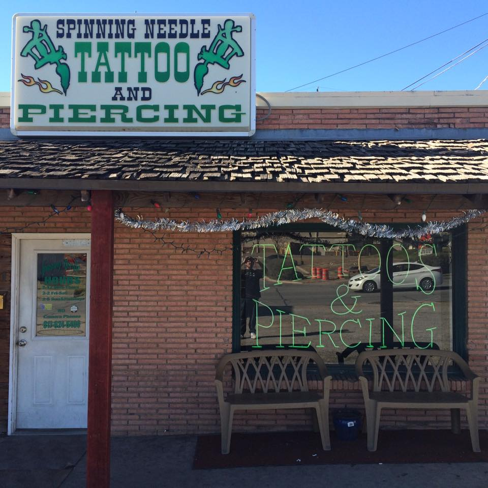 Spinning needle tattoos and piercings fort worth stockyards for Fort worth texas tattoo shops