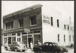 Alps Hotel, located West Exchange Ave.