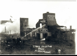 March 14, 1911 a devastating fire swept through the Stockyards, destroying Mule Alley and killing the livestock there.