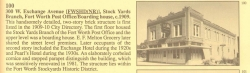 Once a US Post Office for the Stockyards in the building that is now Pearls Dancehall. It was also once Pearls Hotel.