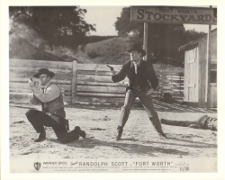 Scene from the movie, Fort Worth, starring Randolph Scott.