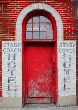 Stage Coach Hotel entrance.